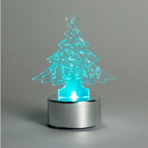 Световая фигура  3V, 1 LED, белый цвет свечения, высота: 8 см, батарейка CR2032,  IP20, LT059 26925