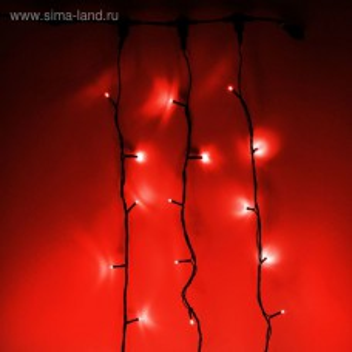 Гирлянда Клип-лайт (Спайдер) 600 LED, 24V, 3x20 м, с транс.,цв. Красный
