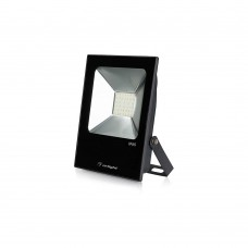 Светодиодный прожектор Arlight AR-FLAT-ICE-30W-220V Warm (Black, 120 deg) 023581