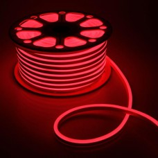 Гибкий неон, 8х16 мм, 50 м,120 LED, SMD2835, 220V, красный 1431261