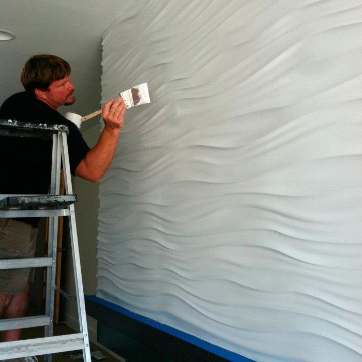 Покраска наклеенных 3d панелей